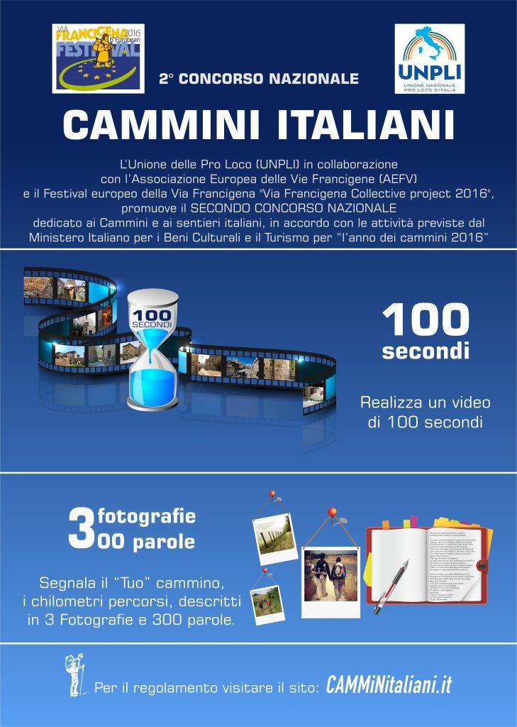 Locandina A3 Concorso Cammini Italiani 2016